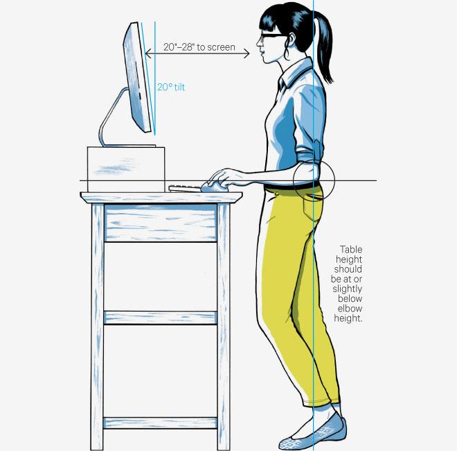 Le bureau debout ksako standing desk Mon grain de folie