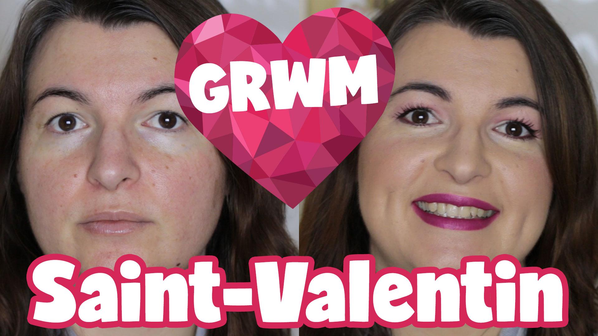 Grwm Saint Valentin Maquillage Paupi Res Tombantes Et Rougeurs Mon Grain De Folie